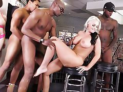 Interracial, Gangbang, Mature, Big Cock