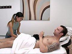Massage, Asian, Asian, Teen, Handjob