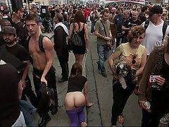 BDSM, Brunette, Fetish, Public