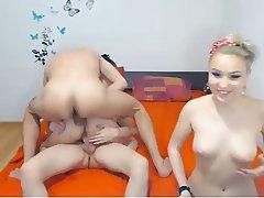 Webcam, Group Sex, Double Penetration, Blowjob