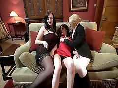 Cunnilingus, Lesbian, Threesome