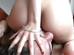 Ass Licking, Brunette, Skinny, Face Sitting